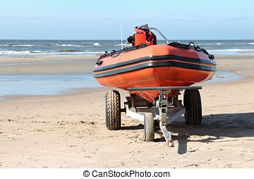 lifeboat on trailer