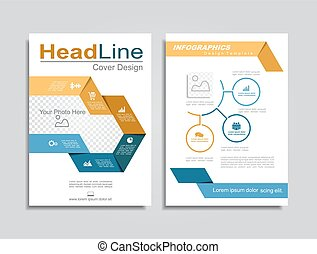 Brochure design layout with place for data. Vector illustration.