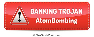 Banking Trojan - Warning sign - bank account hacking, email viruses and fraud concept