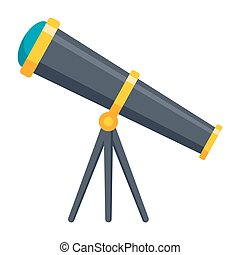 Telescope Vector Icon - Telescope for astronomy, vector icon...