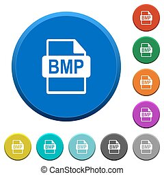 BMP file format beveled buttons - BMP file format round...