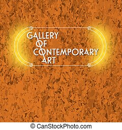 Background of marble  and the words gallery of contemporary art