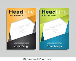 Brochure layout with place for your data. Vector illustration.