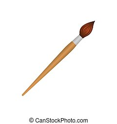 brown paint brush icon, vector illustraction design image