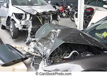 Danificado, acidente,  motorcars