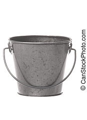Metal Pail Isolated - Isolated image of a metal pail