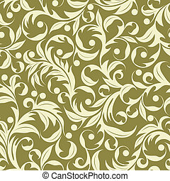 Beige plants - Seamless pattern from beige plants(can be...