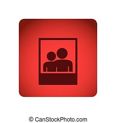 red emblem people picture icon
