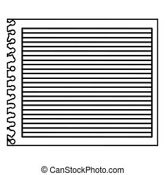 monochrome striped notebook sheet in blank
