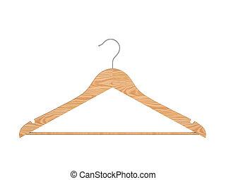 Hanger on a white background. 3d illustration.