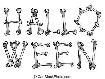 Halloween text - vector