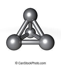 Molecule Structure Metallic Grey - simple metallic grey...