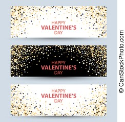 Happy valentine day festive sparkle layout template design....