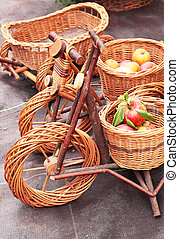 Decorative bicycles from the twigs for the garden