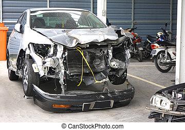 acidente, Danificado, motorcars