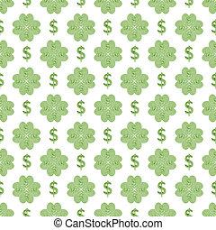 Conversational Dollar Sign Seamless Pattern - Conversational...
