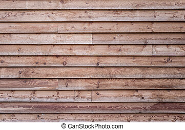 Wood house facade - Spruce wood background, wooden slats,...
