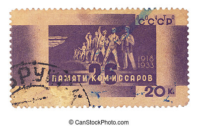 USSR - CIRCA 1960: A postage stamp printed in the USSR...
