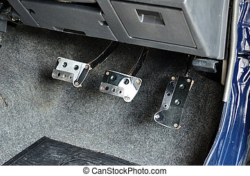 Manual Brake Clutch and Accelerator Pedal control in car