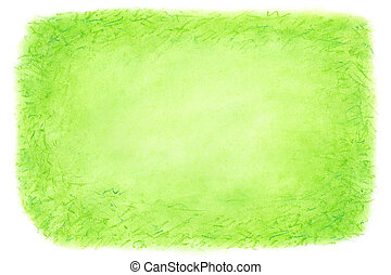 Green abstract hand drawn background.