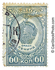 USSR - CIRCA 1948: A Stamp printed in the USSR shows the...