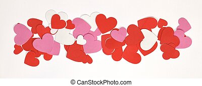 Scattered Hearts - Hearts scattered on a row. Perfect for a...