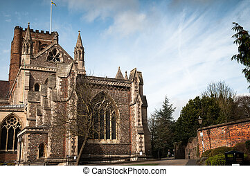 City cathedral exterior on a bright day - City cathedral...