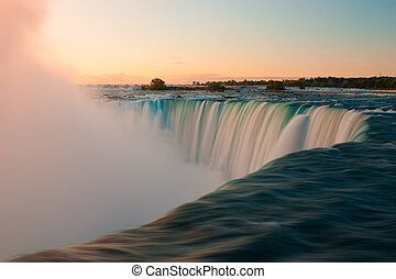 Niagara Falls in Canada at sunrise