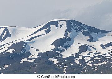 Husavik Fjord Mountain Top - Rough volcanic mountain top...