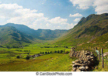 Langdale - Typical landscape in Lake District