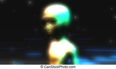 Digital Animation of an Alien