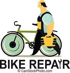 Bicycle Repair vector
