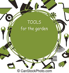 Garden tools seamless pattern
