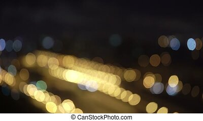 Citylight blur at night bokeh
