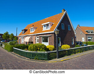 Rural House of Marken, a peninsula in the IJsselmeer, the...
