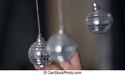Brilliant Christmas tree decorations, close up.