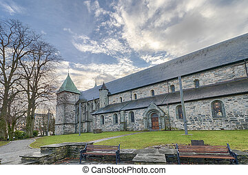 Stavanger Cathedral 006 - Exterior of the famous Stavanger...