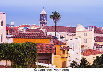Panorama of La Orotava. Orotava, Tenerife, Canary Islands,...