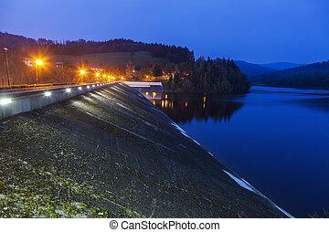 Czernianskie Lake in Poland. Wisla, Slaskie, Poland.