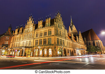 Old Town Hall in Hanover. Hanover, Lower Saxony, Germany.