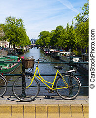 Bicycle in Amsterdam Canal