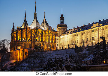 Jesuit College and St. Barbara's Church in Kutna Hora