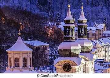 Mary Magdalene Church in Karlovy Vary. Karlovy Vary...