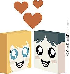 cube faces love symbol - design of cube faces love symbol