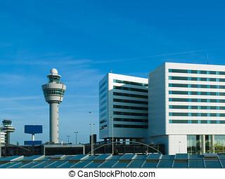 Schiphol, panowanie, wieża, Amsterdam