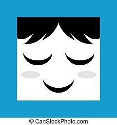pleasure face icon - design of pleasure face icon