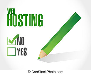 no Web hosting sign concept illustration