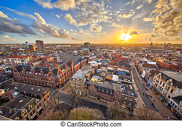 View over Groningen city - View over historic part of...