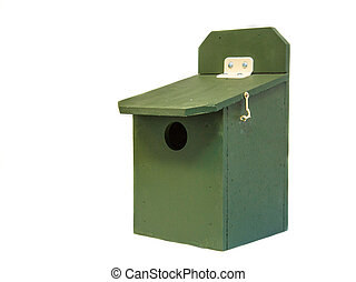 Professional green bird house
