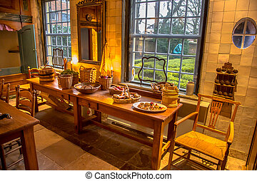 Historic kitchen table